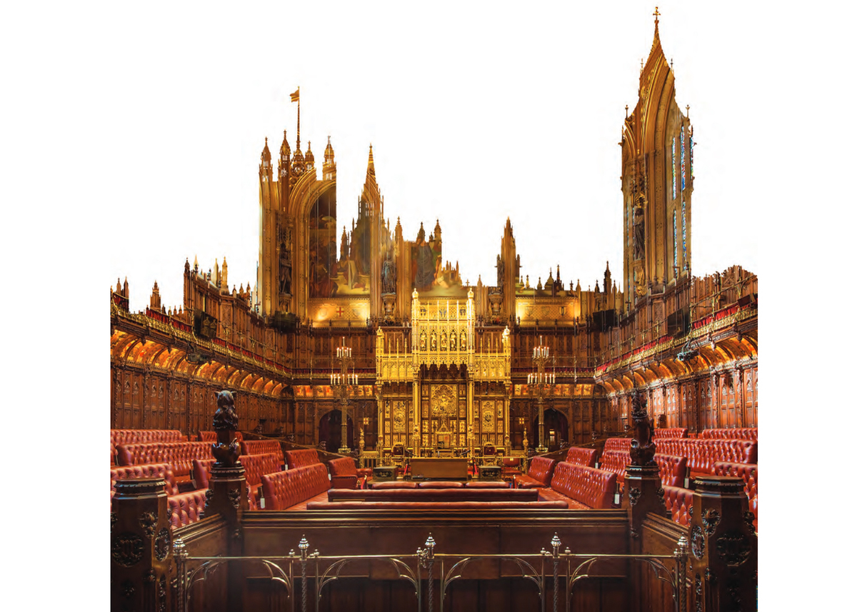 Houses Of Parliament London Interior Outline